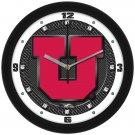Utah Utes Carbon Fiber Textured Wall Clock