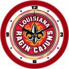 Louisiana-Lafayette Ragin Cajuns Dimensional Wall Clock