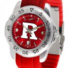 Rutgers Scarlet Knights Sport AnoChrome Colored Band  Watch