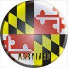 Maryland State Flag Metal Circular Sign