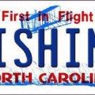 Fishing North Carolina Novelty Metal License Plate