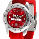 Louisiana-Lafayette Ragin Cajuns Sport AnoChrome Colored Band  Watch