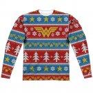 "Wonder Woman ""Holiday"" Adult Regular Fit Long Sleeve T Shirt (Front/Back Print)"