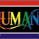 Humans Gay Pride Vanity Metal Novelty License Plate