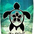 Sea Turtle Metal Novelty Surf Board Sign