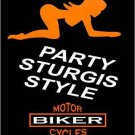 Party Sturgis Style Metal Novelty Parking Sign