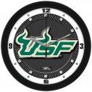 South Florida Bulls Carbon Fiber Textured Wall Clock