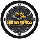 Southern Miss Golden Eagles Carbon Fiber Textured Wall Clock