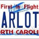 Charlotte North Carolina Novelty Metal License Plate