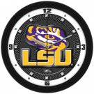 LSU Tigers Carbon Fiber Textured Wall Clock
