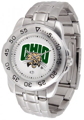 Ohio Bobcats Mens' Sport Steel Watch
