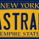 Pastrami New York Background Novelty Metal Novelty License Plate