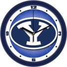 BYU Cougars Dimensional Wall Clock