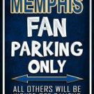 Memphis Metal Novelty Parking Sign