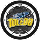 Toledo Rockets Carbon Fiber Textured Wall Clock