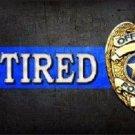 Retired Police Officer Novelty Metal License Plate