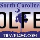 Golfer South Carolina Novelty Metal License Plate