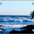 Ocean Wave Vanity Metal Novelty License Plate