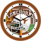 Texas Longhorns Football Helmet Wall Clock