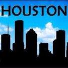 Houston Silhouette Novelty Metal License Plate