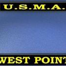 U.S.M.A West Point Black License Plate Frame