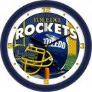 Toledo Rockets Football Helmet Wall Clock