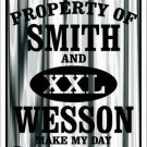 Smith and Wesson Metal Novelty Parking Sign