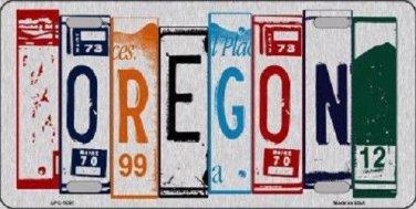 Oregon License Plate Art Brushed Aluminum Metal Novelty License Plate