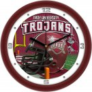 Troy University Trojans Football Helmet Wall Clock