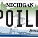 Spoiled Michigan Metal Novelty License Plate
