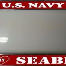 U.S. Navy I Heart My Seabee Chrome Photo License Plate Frame