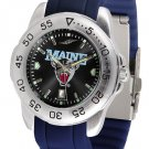 Maine Black Bears Sport AnoChrome Colored Band  Watch