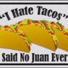 Tacos Novelty Metal License Plate