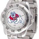 Fresno State Bulldogs Mens' Sport Steel Watch