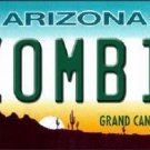 Zombie Arizona Background Novelty Metal License Plate