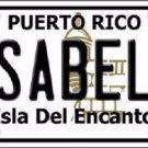 Isabela Puerto Rico Metal Novelty License Plate
