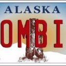 Zombie Alaska State Background Novelty Metal License Plate