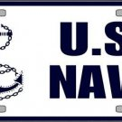United States Navy Anchor Novelty Vanity Metal License Plate