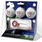 Indiana Hoosiers Cap Tool 3 Ball Gift Pack