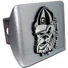 University of Georgia (Bulldog) Brushed Chrome Hitch Cover