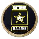 Army Chrome Auto Emblem (Retired)