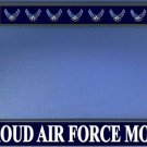 Proud Air Force Mom Black License Plate Frame