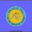 Choctaw Nation Flag Metal Novelty License Plate