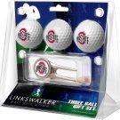 Ohio State Buckeyes Cap Tool 3 Ball Gift Pack