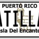 Patillas Puerto Rico Metal Novelty License Plate