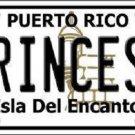 Princesa Puerto Rico Metal Novelty License Plate