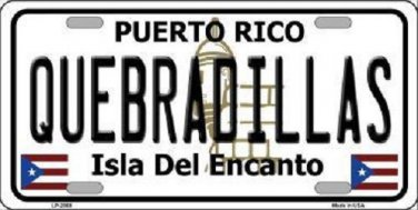 Quebradillas Puerto Rico Metal Novelty License Plate