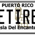 Retired Puerto Rico Metal Novelty License Plate