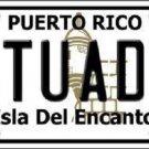 Utuado Puerto Rico Metal Novelty License Plate