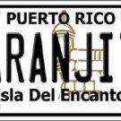 Naranjito Puerto Rico Metal Novelty License Plate
